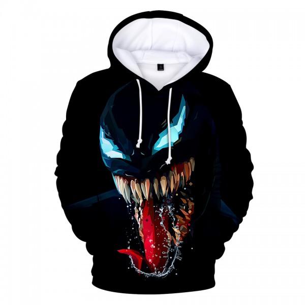 Venom Skull 3D Print Pullover Hoodie Black