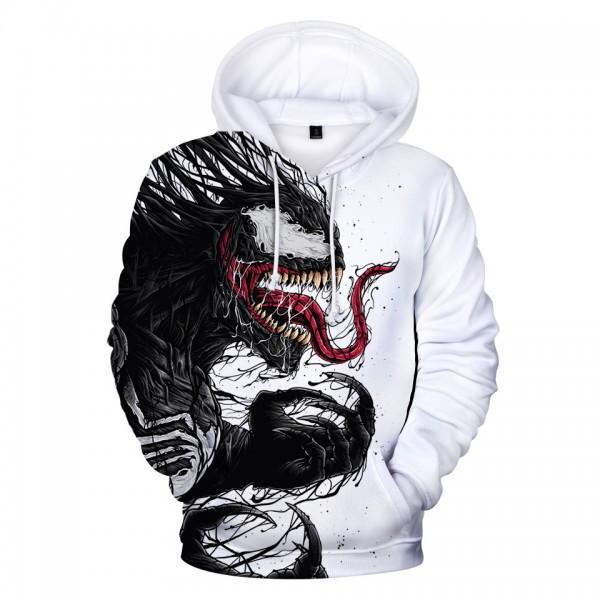 Profession Venom 3D Print Stylish Design Pullover Hoodies
