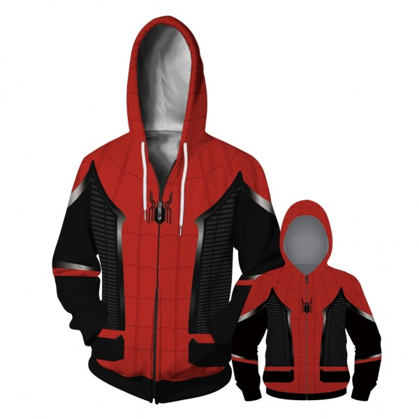 Spider-Man Far From Home Zip Up Hoodie Jacket For Men Women Kids Family Matching Adult Children