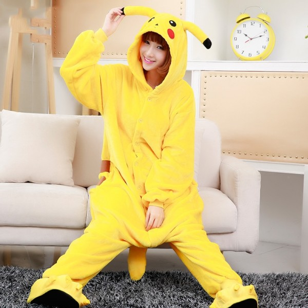 Pikachu Onesie Costumes For Adults & Kids