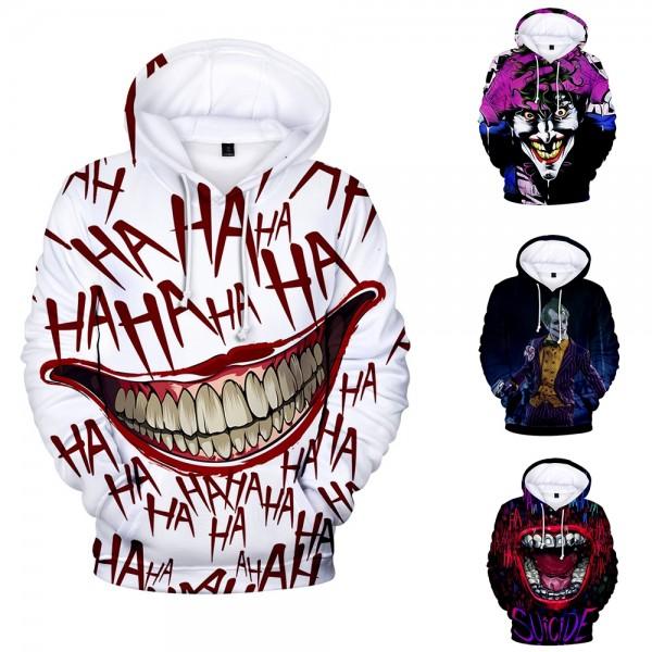 The Joker Hahaha Hoodie Funny 3D Pullover Sweatshirts Hoodies For Men & Women