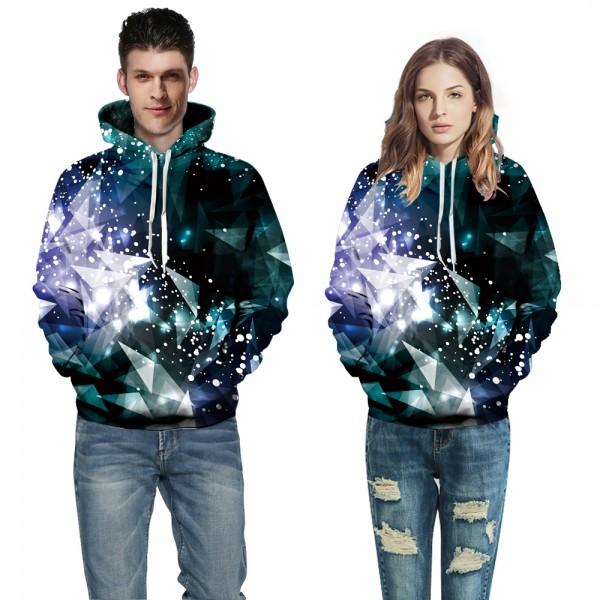 Geometric Glow Hoodie Sweatshirt Pullover