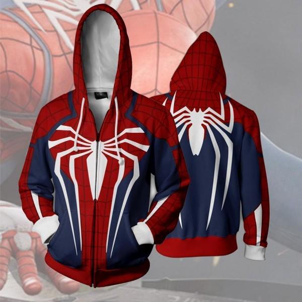 Spiderman Ps4 New Look 3D Zip Up Hoodie Jacket