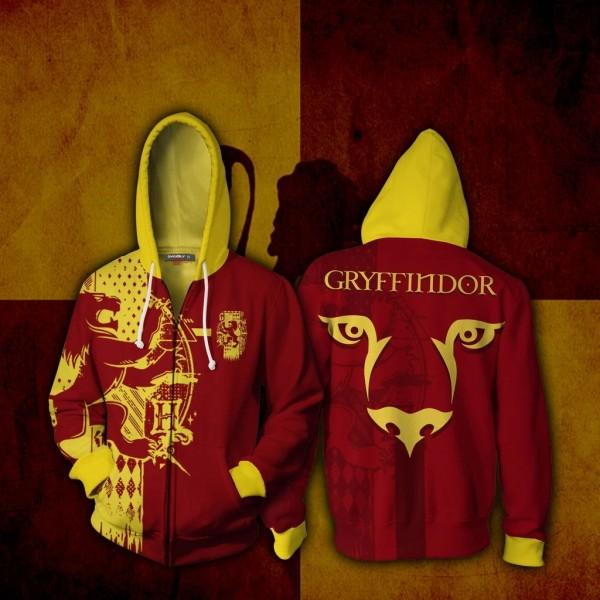 Harry Potter Hoodie 3D Zip Up Hoodies Jacket Coat