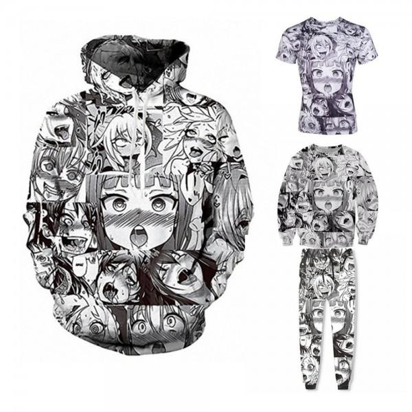 Anime Character 3D Zip Up Hoodies Jacket Coat Cosplay Costume
