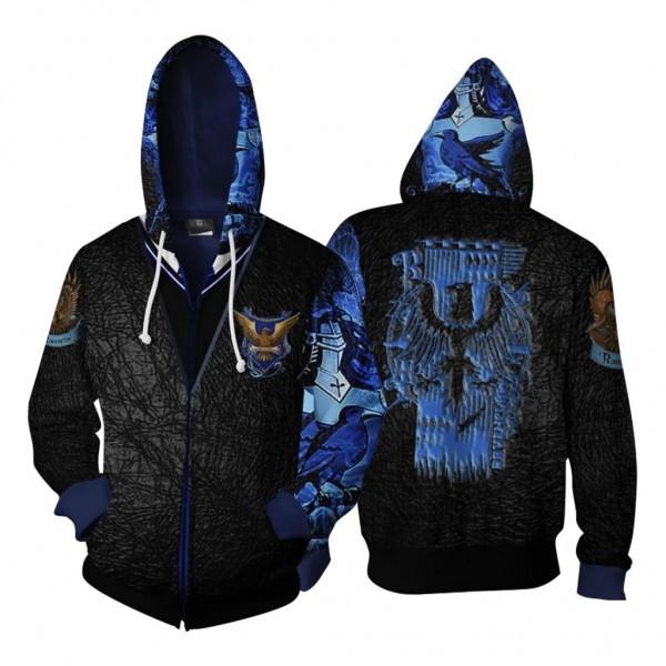 Harry Potter Hoodies - Ravenclaw 3D Zip Up Hoodie Jacket Cosplay Costume