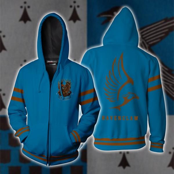 Harry Potter Hoodies - Ravenclaw Hogwarts Hoodie Jacket 3D Zip Up Cosplay Costume