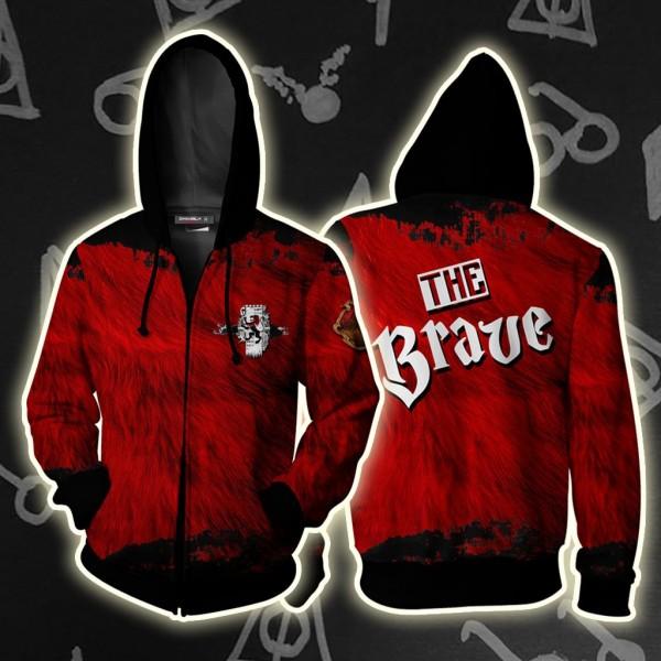 Harry Potter Hoodies - The Brave Gryffindor Hoodie Jacket 3D Zip Up Cosplay Costume