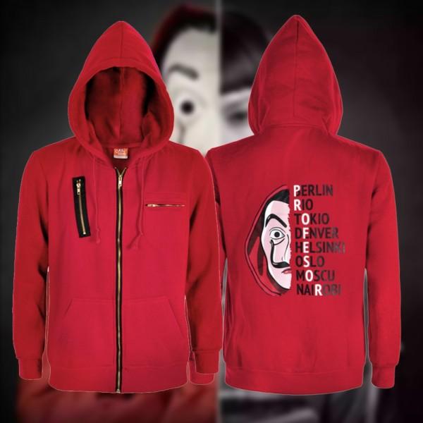 Money Heist Jacket La Casa de Papel Salvador Dali Zip Up Hoodie Jacket Coat