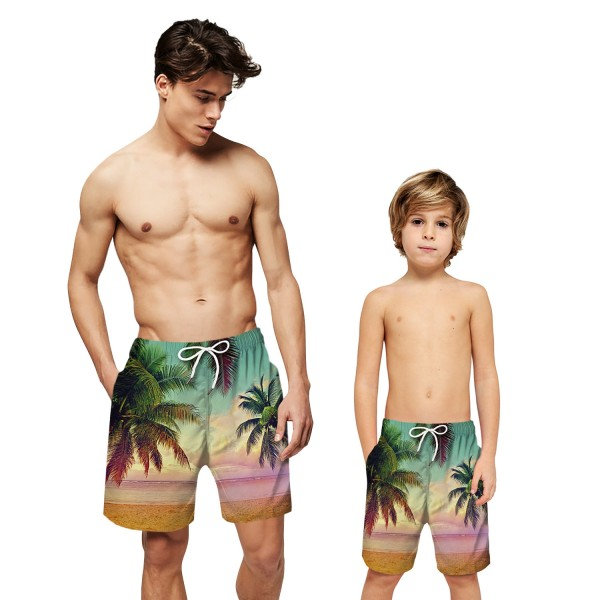Beach Coconut Palm Swim Trunks Shorts 3D Print Beach Shorts For Men Boys