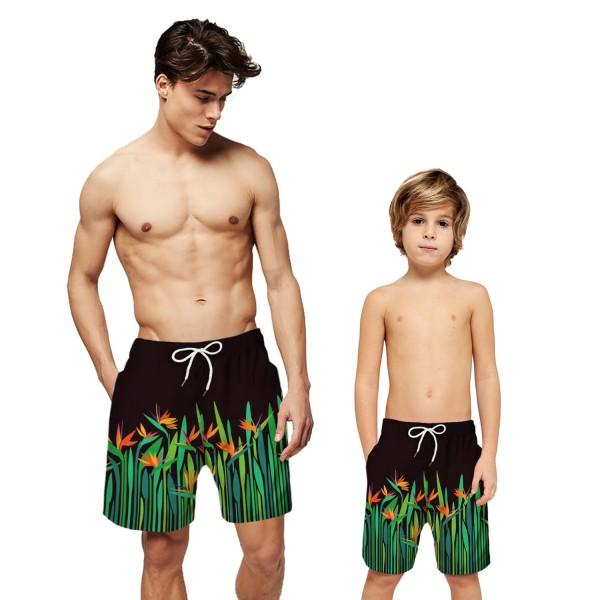 Leaf Pattern Swim Trunks Shorts 3D Beach Shorts For Men Boys