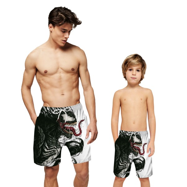 Venom Swim Trunks Shorts 3D Beach Shorts For Men Boys