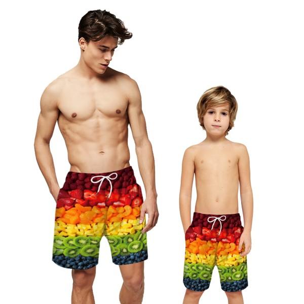 Fruit Pattern Swim Trunks Shorts 3D Beach Shorts For Men Boys