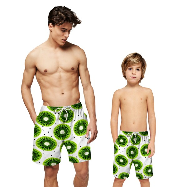 Kiwi Fruit Pattern Swim Trunks Shorts 3D Beach Shorts For Men Boys