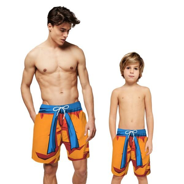 Dragon Ball Goku Swim Trunks Shorts Yellow 3D Beach Shorts For Men Boys