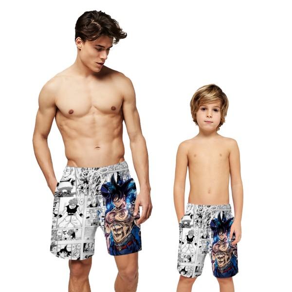 Anime Dragon Ball Goku Swim Trunks Shorts 3D Beach Shorts For Men Boys