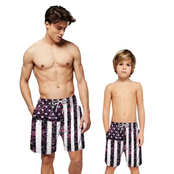 American Flag Pattern Swim Trunks Shorts 3D Beach Shorts For Men Boys