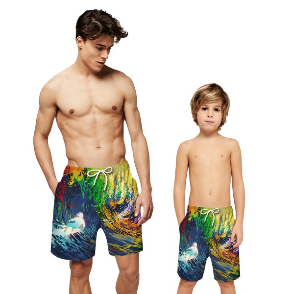 Sea Wave Swim Trunks Shorts 3D Beach Shorts For Men Boys