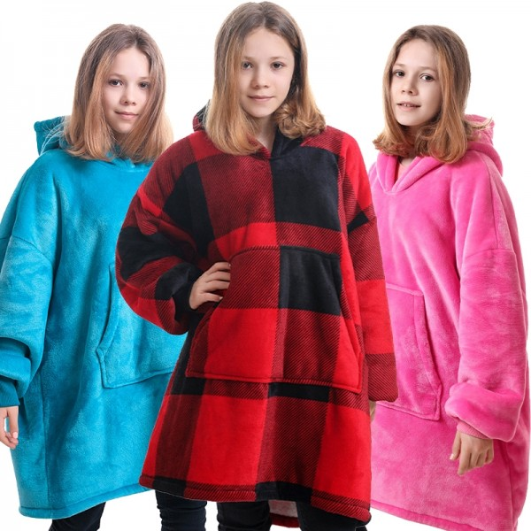 Girls Blanket Hoodie Oversized Hoodie Blanket Sweatshirt