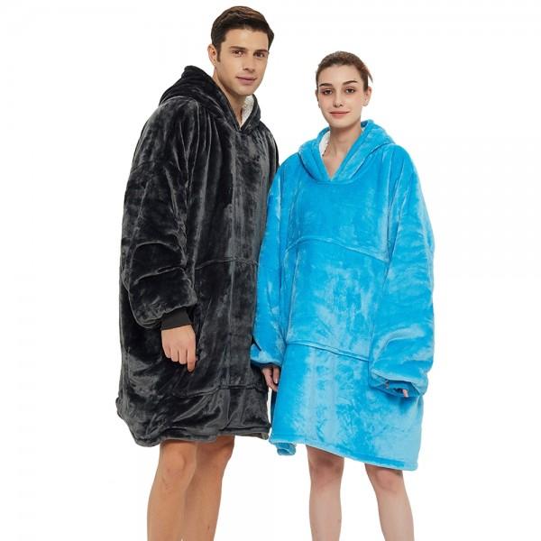 Sherpa Blanket Hoodie Oversized Sweatshirt Hoodie for Adults