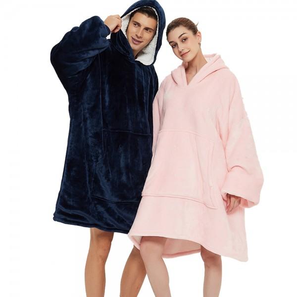 Adult Oversized Sherpa Blanket Hoodie Sweatshirt Hoodie