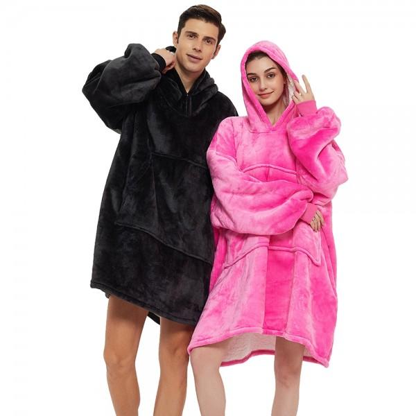 Oversized Sherpa Blanket Hoodie Sweatshirt Hoodie for Adults