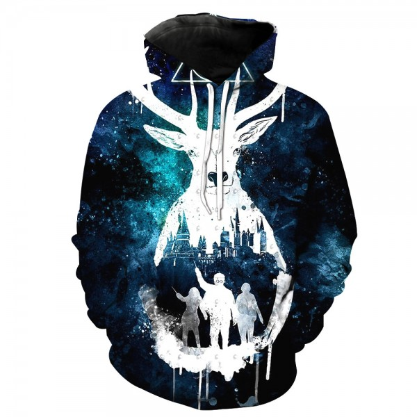 Harry Potter 3D Print Hooded Sweatshirt