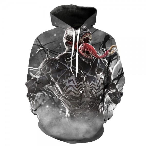 Spiderman Venom 3D Fashion Hooded Sweater