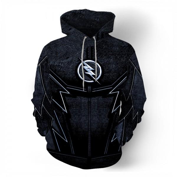 Black Falsh Cosplay Men's 3D Hoodie Sweatshirt