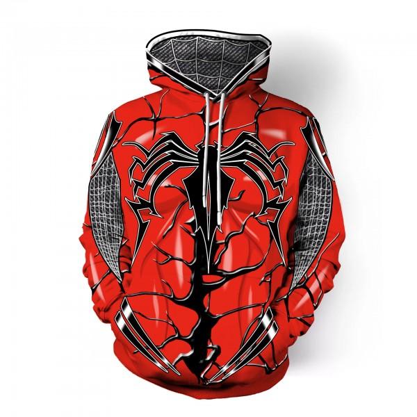 Red Spiderman Cosplay Men's 3D Hoodie Sweatshirt