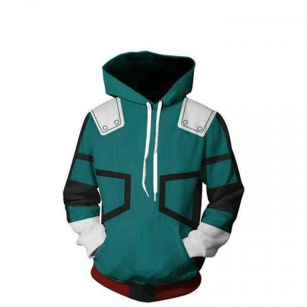 My Hero Academia 3D Print Green Pullover Hoodies