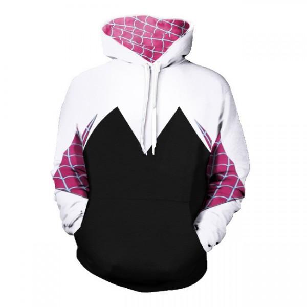 Spiderman Hoodies Spider-Gwen Stacy Pullover Hoodie Sweatshirt